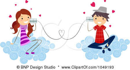 1049193-royalty-free-rf-clip-art-illustration-of-a-valentine-stick-kid-couple-talking-with-can-phones-on-clouds