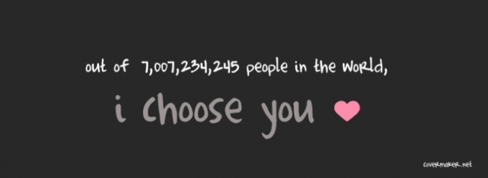 I will choose you…
